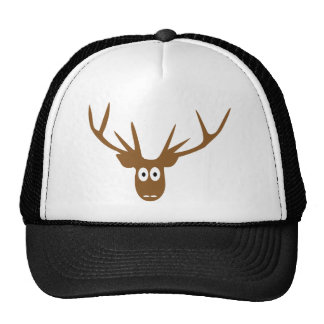 deer head antler hat