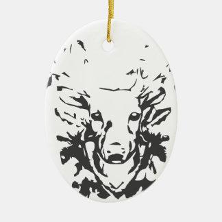 Deer Head Antlers Christmas Ornament