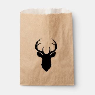 Deer Head Antlers Rustic Country Modern Favor Favour Bags