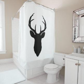 Deer Head Antlers Rustic Country Modern Shower Curtain