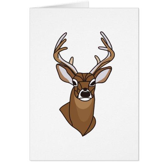 Deer Head Card