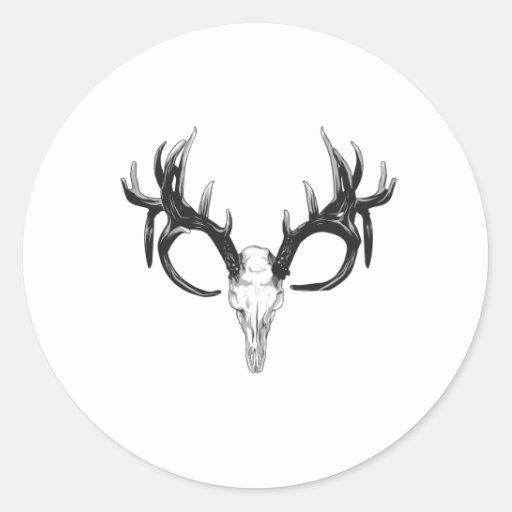 Deer head classic round sticker