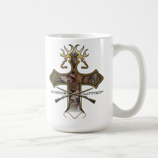 Deer Head Cross by Dixie Livin Coffee Mug