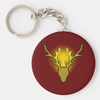 Deer head deer steam turbine and gas turbine syste key ring