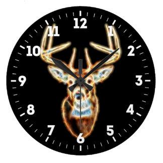 Deer Head Energy Spirited on a Large Clock