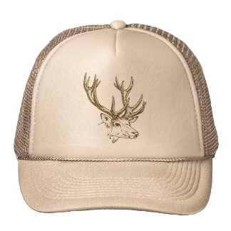 Deer Head Graphic Cap