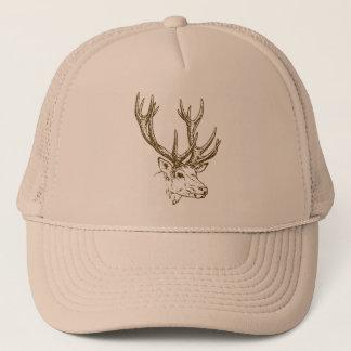 Deer Head Graphic Trucker Hat