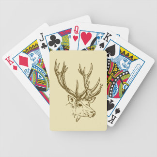 Deer Head Illustration Graphic Bicycle Playing Cards