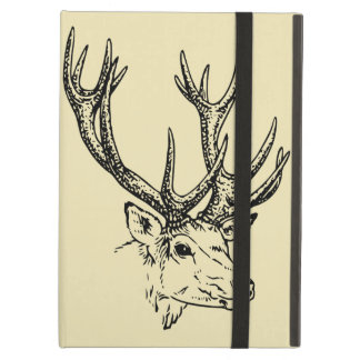 Deer Head Illustration Graphic Cover For iPad Air