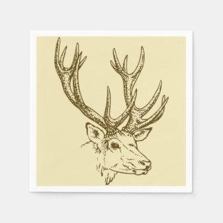 Deer Head Illustration Graphic Disposable Napkin