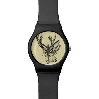 Deer Head Illustration Graphic Watch