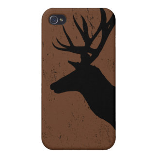 Deer head in side profile silhouette iPhone 4 case