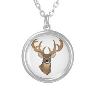 Deer Head Silver Plated Necklace