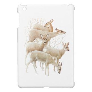 Deer Herd In Snow, Vintage Illustration iPad Mini Cover