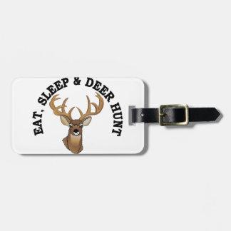 Deer Hunt Luggage Tag