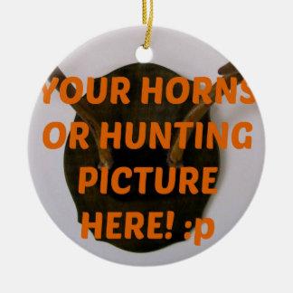 Deer Hunter Hunting Add Photo Christmas Christmas Ornament
