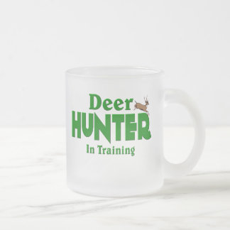 Deer Hunter In Training Frosted Glass Coffee Mug