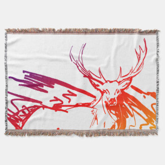 Deer Hunter Man Cave Throw Blanket