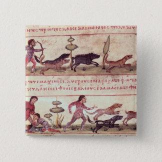 Deer Hunting 15 Cm Square Badge