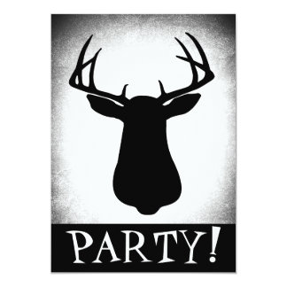 Deer Hunting Birthday Invitation