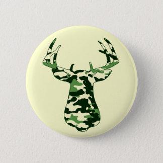 Deer Hunting Camo Buck 6 Cm Round Badge