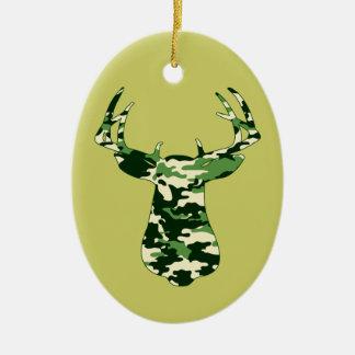 Deer Hunting Camo Buck Christmas Ornament