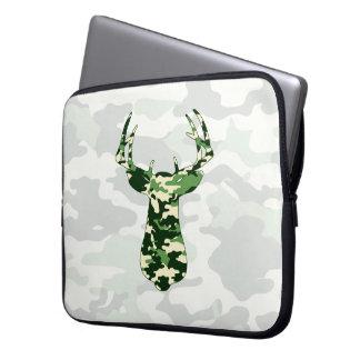 Deer Hunting Camo Buck Laptop Sleeve