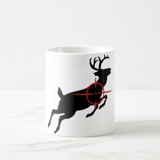Deer Hunting- Deer with crosshairs on it Basic White Mug