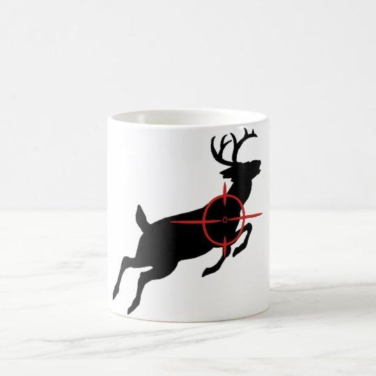 Deer Hunting- Deer with crosshairs on it Coffee Mug