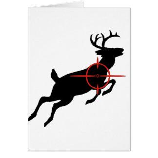 Deer Hunting- Deer with crosshairs on it Greeting Card