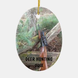 Deer Hunting Firearms Christmas Ornament