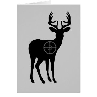 Deer Hunting Greeting Card- Blank