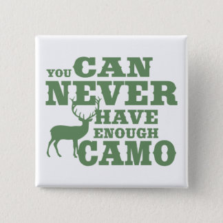 Deer Hunting Humor Camouflage 15 Cm Square Badge