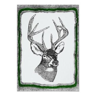 Deer Hunting invitation template