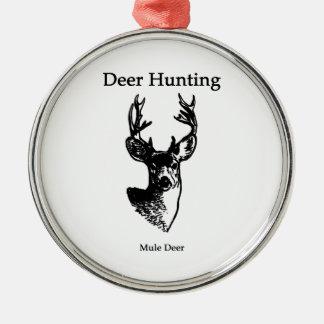 Deer Hunting (Mule Deer Buck) Christmas Ornament
