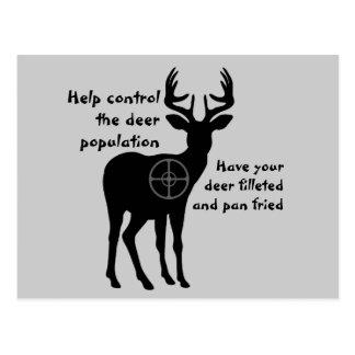 Deer Hunting Postcard
