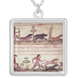 Deer Hunting Silver Plated Necklace