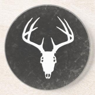 Deer Hunting Skull w/ Antlers Drink Coasters