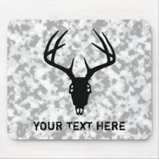 Deer Hunting Skull w/ Antlers Mousepad