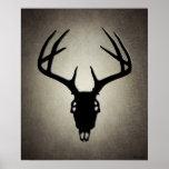 Deer Hunting Skull w/ Antlers Poster
