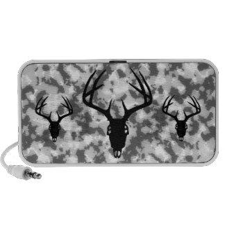 Deer Hunting Skull w/ Antlers Notebook Speakers