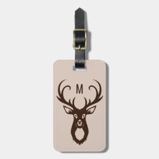 Deer Illustration custom text luggage tag