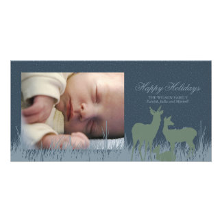 Deer in a Field Holiday Greeting Card
