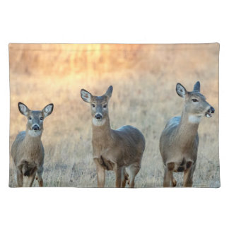 Deer in a field placemat