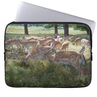 Deer in a park laptop sleeve