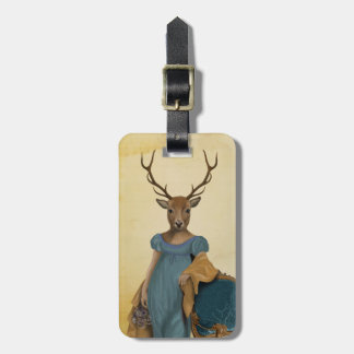 Deer In Blue Dress 2 Luggage Tag