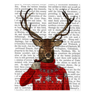 Deer in Ski Sweater 2 Postcard