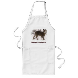 Deer in Snow - Earth Day Long Apron