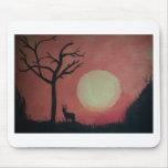 Deer in sunset.jpg mouse pad