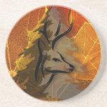 Deer in the Autumn Woods Drink Coaster